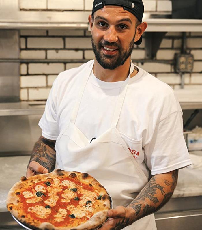 Frank Pinello at Pizzeria La Rosa